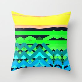The Land Throw Pillow
