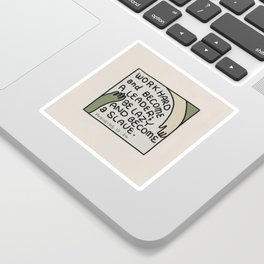 Work Hard and Become a Leader  | Bible quote | Proverbs 12:24 Sticker
