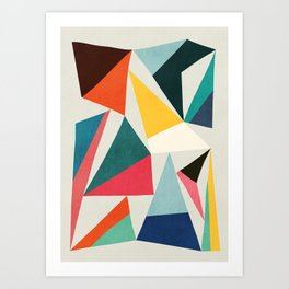 Collection of pointy summit Art Print