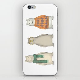 The Three Gentlemen Well-Dressed Bears. iPhone Skin