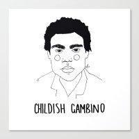 childish gambino Canvas Prints featuring Childish Gambino by ☿ cactei ☿