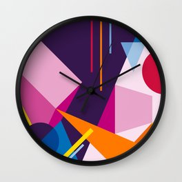 Abstract modern geometric background. Composition 3 Wall Clock