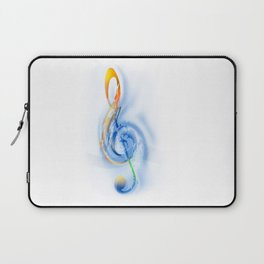 Treble Clef - Music Abstract Laptop Sleeve
