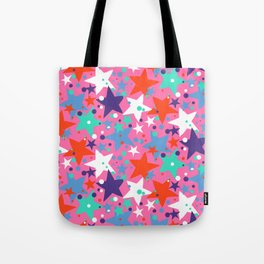 Fun ditsy print with constellations and twinkle lights Tote Bag