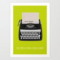 the perks of being a wallflower Art Prints featuring the perks of being wallflower by Live It Up