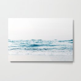 ocean waves, printable photography, coastal print, colorful photo, beach waves, beautiful beach, oce Metal Print