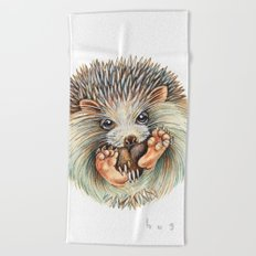 Hedgehog ball Beach Towel