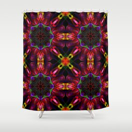 Deep Abstract Pattern Shower Curtain