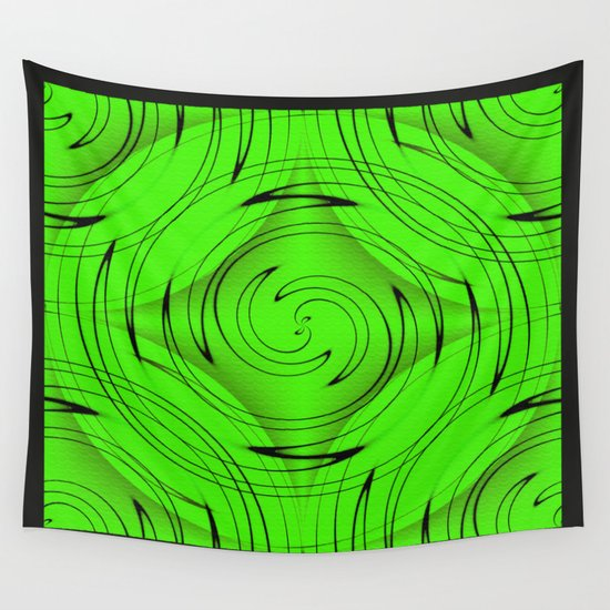 Lime Green Wall Tapestry
