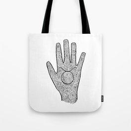 Hamsa / Hand Taurus Tote Bag