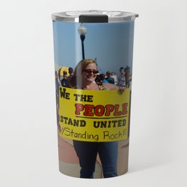 Standing Rock Protest Sign in Florida Travel Mug