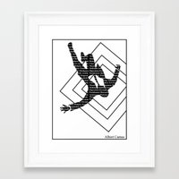 camus Framed Art Prints featuring camus by Taylor Free