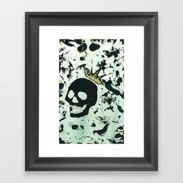 Last Laughing Skull Framed Art Print