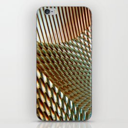Shiny Gold Dimple Abstract iPhone Skin