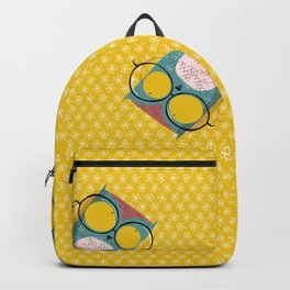 Peeking owl with glasses Backpack