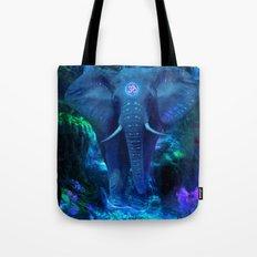 Blue Elephant Tote Bag