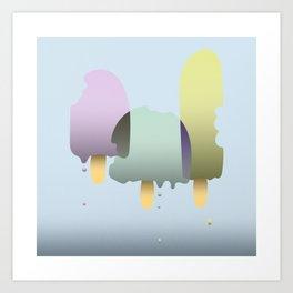 The three ice cream musketeers Art Print
