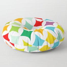 colorful diamonds on white Floor Pillow