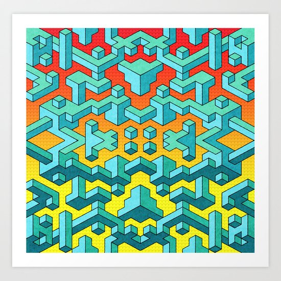 Miles and Miles of Squares Art Print