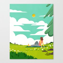 How to be Happy IV Canvas Print