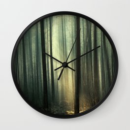 Forest and Sunlight Wall Clock