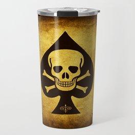 Death Card - Ace Of Spades Travel Mug