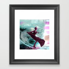 If you're not making waves, you're not underway Framed Art Print