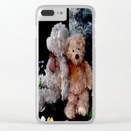 Teddy Bear Buddies Clear iPhone Case