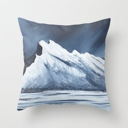 Mount Rundle Throw Pillow