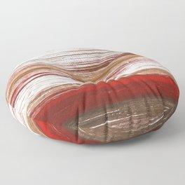 Red brown lines Floor Pillow