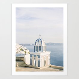 Pastel Blue Church Art Print