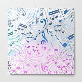 Musical Notes Metal Print
