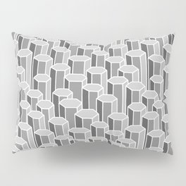 Hexagonal Columns in Grey Pillow Sham