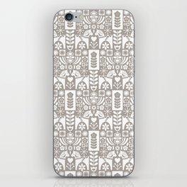 Swedish Folk Art - Warm Gray iPhone Skin