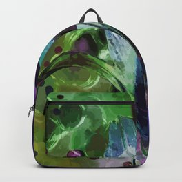 Lily on a green-violet background Backpack