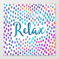 relax Canvas Prints featuring Relax by Elisabeth Fredriksson