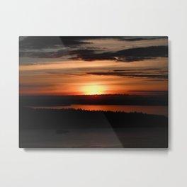 Puget Sound Sunset 2 Metal Print