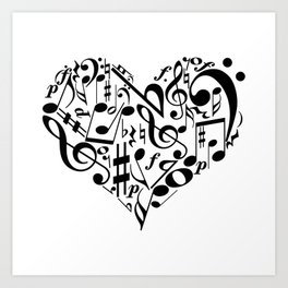 Music love Art Print