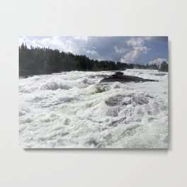 waterfall Storforsen in the north of Sweden Metal Print