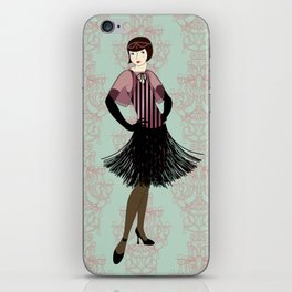 Flapper ready for the new Roaring Twenties! (1) iPhone Skin