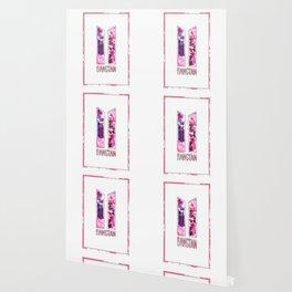 BTS Bangtan Pink Floral Wallpaper