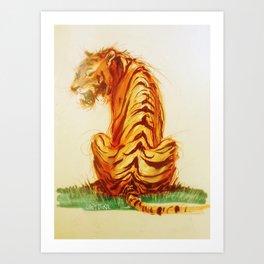 Tiger Turn Art Print