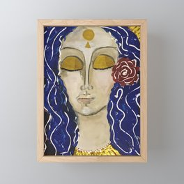 Lady of Grace and Contemplation Framed Mini Art Print