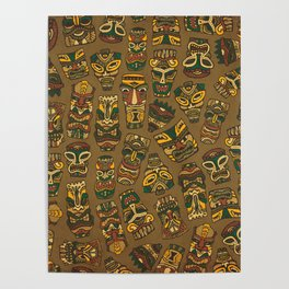 Tiki Masks Poster