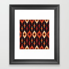 American Native Pattern No. 14 Framed Art Print
