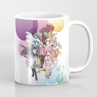madoka magica Mugs featuring Puella Magi Madoka Magica - Only You by Yue Graphic Design