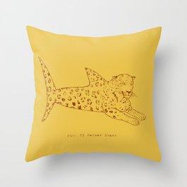 Jaguar Shark Throw Pillow
