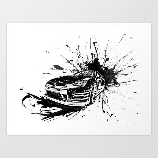 GTR Inked Art Print