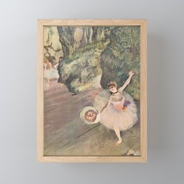 Dancer With A Bouquet Of Flowers The Star Of The Ballet By Edgar Degas   Reproduction   Famous Frenc Framed Mini Art Print
