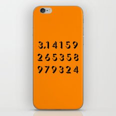 Pi - 3,14 -Orange iPhone & iPod Skin